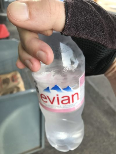 Wasserflasche Evian
