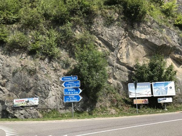 Abzweigung Les Mosses - Col du Pillon